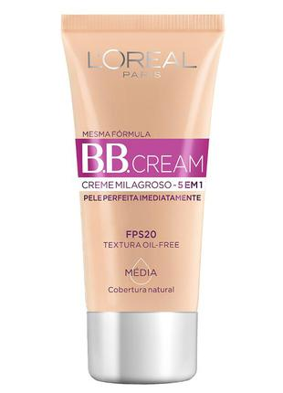 Bb cream l'oréal paris dermo expertise fps20 30ml cor média