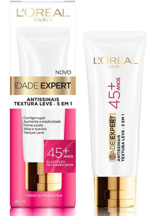 Creme anti-idade idade expert 45+ l'oréal paris 40ml