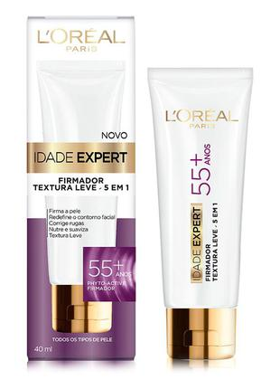 Creme anti-idade idade expert 55+ l'oréal paris 40ml