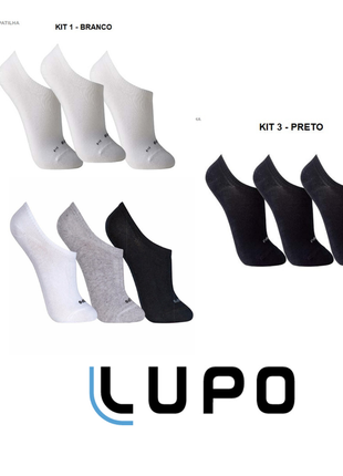 Kit 9 pares de meias lupo sapatilha soquete invisível original black friday - 3270