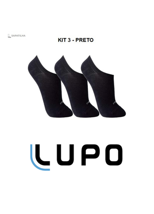 Kit 12 pares de meias lupo sapatilha soquete invisível original black friday - 3270