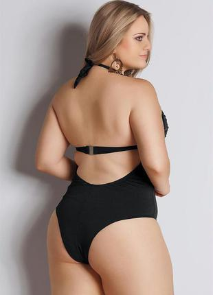 Maiô plus size decote v