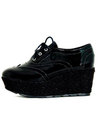 Oxford infinity shoes flatform preto