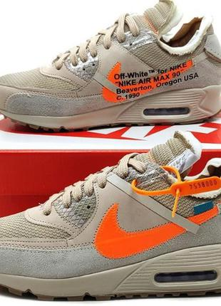 Tênis nike air max 90 off white desert ore